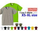 【XS-XL】オーセンティックスーパーヘヴィーTシャツ(UNITED ATHLE/ユナイテッドアスレ)【7.1oz厚手・無地半袖】USコットン・メンズ・..