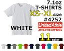 【XS-XL】【ホワイト】7.1oz オーセンティックスーパーヘヴィーTシャツ 【UNITED ATHLE(ユナイテッドアスレ)】【厚手・無地半袖】USコットン...