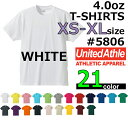 【XS-XLサイズ】【ホワイト】4.0oz Tシャツ【薄手・無地】【deslawear(デラウエア)】・半袖・5806-01・メンズ・・男女兼用UNITED A...