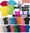 【S-XL】6.2oz ヘヴィーウェイト Tシャツ deslawear(デラウェア)UNITED ATHLE(ユナイテッドアスレ)【厚手・無地】・半袖・コットン・5555-01【2015ss】UnitedAthle【1019】