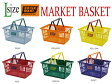 【Lサイズ】BRISK MART(ブリスクマート) マーケットバスケット/SHOPPING BASKET 【収納スーパー買い物かご】【605】