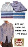 RED KAPレッドキャップ インダストリアルストライプシャツ(メンズ?ロングスリーブワークシャツ)長袖【sp10】【正規品】?父の日特集?