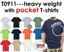 ANVIL(アンビル)6.1oz ヘビーウェイトポケット付Tシャツ【無地・メンズサイズ】911半袖・【10800円税込以上お買上で送料無料(沖縄除く)】