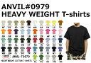 【S-2XLサイズ】無地 ヘビーウェイト Tシャツ/anvil(アンビル) 6.1ozヘビーウェイト無地半袖Tシャツ【979】メンズ メーカー廃盤・在庫処分特価