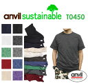 ANVIL(アンビル)4.8oz サステナブル エコTシャツ 50/50(TEAR AWAY) / 無地・メンズサイズ・eco・再生・リサイクル・ANVL-T0450・・【0816】