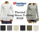 コットンサーマルTシャツ 【 United Sports Headline/ユナイテッドスポーツヘッドライン】 1210【無地メンズインナーワッフルT】【1207】