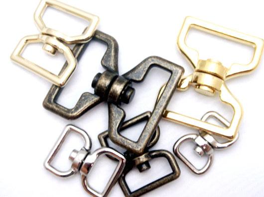 回転カン N15000 12mm(平) シルバー 日本製 首輪金具