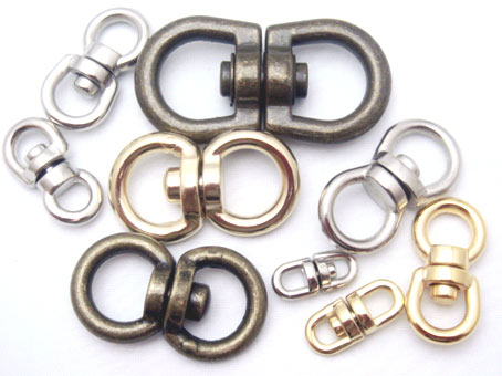 回転カン 5mm(丸)シルバー 日本製 首輪金具
