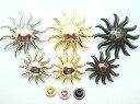 飾りカシメ 太陽(sole)Lサイズ U49900 ゴールド