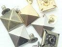 ショッピング犬用 飾りカシメ 特大角ピラミッド 13ミリ ゴールド