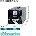育良精機(イクラ) PT-30T ポータブルトランス AC200/100V 変圧トランサー(屋内用) 昇降圧兼用