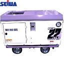 精和産業(セイワ) エスコン 3馬力 ガソリンエンジン防音コンプレッサー(オイル付) SCPE-22GLS 3.3PS 300L/min スローダウン方式/オイルセンサー付/セル付