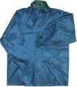 珍しい雨合羽 両面タイプ 紺・緑  L