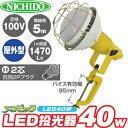 日動工業 LED灯光器 40W エコビック ATL-4005J-50K 屋外型 100V用 2芯防滴2Pプラグ コード5m