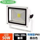 日動工業 LEDエコナイター LEN-50D-ES-W (白) 50W 昼白色 5000K【在庫有り】【あす楽】