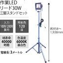 日動工業 LED作業灯リード30W LPR-S30L-3ME 三脚スタンドセット
