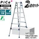 ピカ(Pica) アルミ伸縮脚立 SCL-210A 2台セット [配送制限商品]