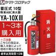 ヤマトプロテック 2016年製 蓄圧式消火器 10型 YA-10XIII+スチール消火器ボックスBF101 (1〜3セット単価) 業務用 粉末ABC消火器 【在庫有り】【あす楽】
