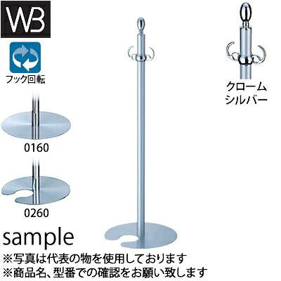 シロクマ(WB) フロアパーティションポール FPP-0160 φ32×895mm φ300 クローム/シルバー