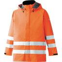 ショッピングレンジ ■ミドリ安全 雨衣 レインベルデN 高視認仕様 上衣 蛍光オレンジ L RAINVERDE-N-UE-OR-L ミドリ安全(株)[TR-8357355]