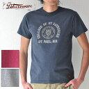 DELUXEWARE デラックスウエア Tシャツ MTG-1903 ST.PAUL 半袖 メンズ アメカジ S-XL グレー/ネイビー