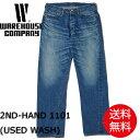 ウエアハウス WAREHOUSE ジーンズ 2ND-HAND 1101 (USED WASH) USEDウォッシュ デニム ユーズド ウォッシュ ストレート