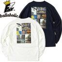 FAT エフエーティー Tシャツ ヘビーオンス HOOPSCENE メンズ M-XL 白/紺 ボーラホリック コラボ F31920-CT10