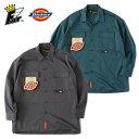FAT Dickies エフエーティー ディッキーズ シャツ TUFFISH 黒 緑 M-L 長袖 ビッグシルエット F32020-SH01 メンズ ワーク ストリート