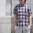 チェスト/マドラスチェックシャツ/シャツ/半袖/メンズ/74017
