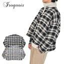 Iroquois イロコイ シャツ TRIPLE YARN SHAGGY CHECK SH ベージュ 黒 チェック S-M シャツジャケット 381204
