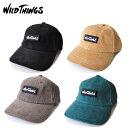 WILD THINGS ワイルドシングス キャップ CORDUROY BASE BALL CAP コーデュロイ ベースボールキャップ WT21147U アウトドア系 カジュアル