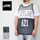 レフラー LEFLAH メッシュ タンクトップ メンズ 黒/グレー M-XXL ストリート 180621-001