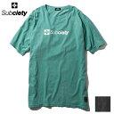 SUBCIETY サブサエティ Tシャツ PIGMENT TEE -THE BASE- 青 黒 半袖 104-40224 サブサエティー