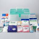応急手当用品20点セット プラスチック製救急箱 救急セット ...