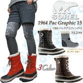 【20%OFF!】SOREL ソレル NL2144 1964 Pac Graphic 15 パックグラフィック スノーブーツ ブーツ レディース 防水