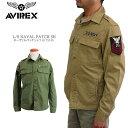 【40%OFF!】AVIREX アビレックス 6175146 L/S NAVAL PATCH SH ネーヴァル パッチ シャツ ジャケット アヴィレックス ネーバル