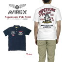 【10%OFF!】AVIREX アビレックス 6183368 SUPERSONIC POLO SHIRT スーパーソニック ポロシャツ 半袖 アヴィレックス