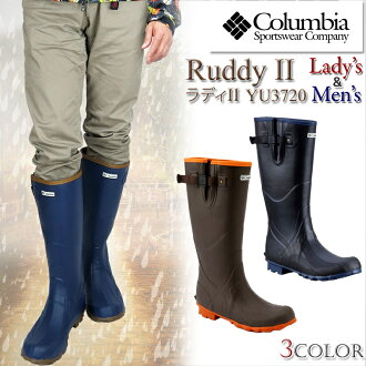 COLUMBIA Colombia YU3472 RUDDY 2013 New Edition Radi rain boots long boots mens ladies rady Director shoes rainwear rain shoes