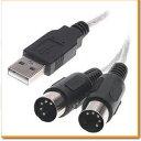 USB - MIDI 1in/1out インターフェース ケーブル オーディオ 音源 USBケーブル