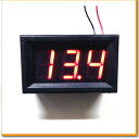 デジタル電圧計 2線式 埋込み用 3桁LEDタイプ レッド ブルー 電圧計 デジタル 電流計 テスター 液晶 オートゲージ 電力計 モニター LED 測定器 電圧 電力 ワットチェッカー 検査