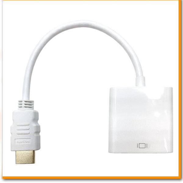HDMI to VGA 信号変換アダプター ホワイト HDMI VGA 変換アダプタ 変換…...:firstmarket:10000465