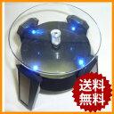 05P03Dec16 ターンテーブル LEDライト付 小型ソーラー 回転台 展示台 LED ディスプレイ コレクション 回転スタンド ブラック ディスプレイスタンド ディスプレイシェルフ ディスプレイラック フィギュア