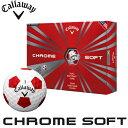キャロウェイ クロムソフト トゥルービスゴルフボール 1ダース(12球入り)[CALLAWAY CHROME SOFT TRUVISGOLF BALL 12P]USモデル