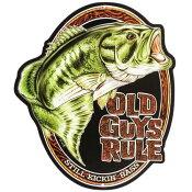 【オープン ロード ブランド】 「Old Guys Rule」ブリキの看板 / Old Guys Rule Bass Embossed Die-Cut Tin Sign
