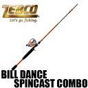 【ゼブコ】 ビル ダンス スピンキャスト コンボ / Bill Dance Rod and Reel Spincast Combo
