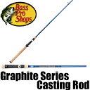 【バス プロ ショップス】 New グラファイト シリーズ 2ピース ベイトロッド / Graphite Series Casting Rod
