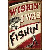 【リバースエッジ】 ブリキの看板 -WISHIN' I WAS FISHIN'- / 11