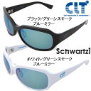 CLT シュワルツィ ブルーミラーレンズタイプ(ブラック/ホワイト)(サングラス 偏光グラス)