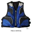 お買得品 ライフジャケット FV-6110 笛付き ブルー×ブラック (フローティングベスト 大人用)