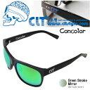 CLT Concolor コンコロール ブラック/グリーンスモークグリーンミラー (サングラス 偏光グラス)